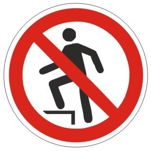 Verbotszeichen-1-P019-Aufsteigen verboten-DIN EN ISO 7010