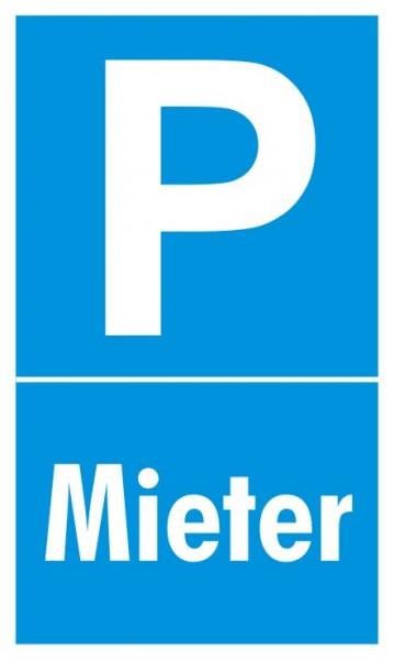 Parkplatzschild Mieter