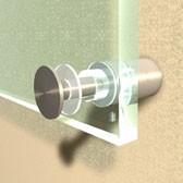 ø 30 mm Inox Abstandshalter V2A mit Inbus · Glashalter · Edelstahl Schilderhalter