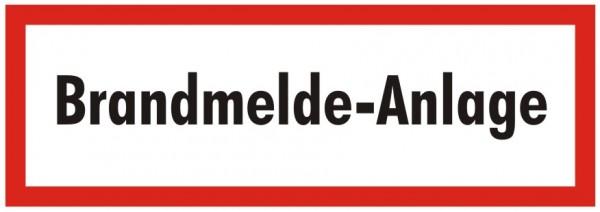 Brandschutzzeichen-9-Brandmelde-Anlage-Textschild DIN 4066 Brandschutzschilder