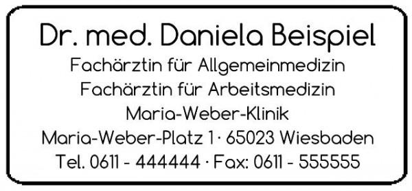 27x58 mm · Kassenarztstempel · Praxisstempel · Arztstempel · Rezeptstempel