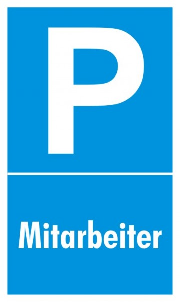 Parkplatzschild Mitarbeiter