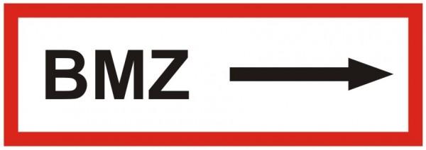 Brandschutzzeichen-9-BMZ Pfeil rechts -Textschild DIN 4066 Brandschutzzeichen