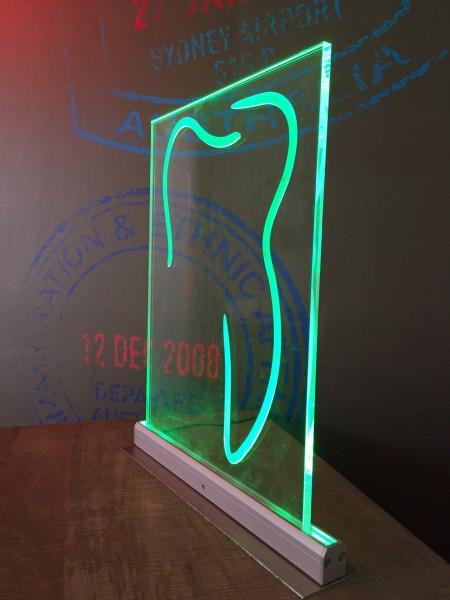 leuchtschild zahn zahnarzt geschenk praxiser ffnung josef k hl gmbh stempel schilder. Black Bedroom Furniture Sets. Home Design Ideas
