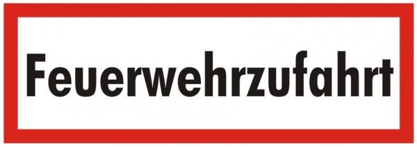 Brandschutzzeichen-9-Feuerwehrzufahrt-Textschild DIN 4066 Brandschutzschild