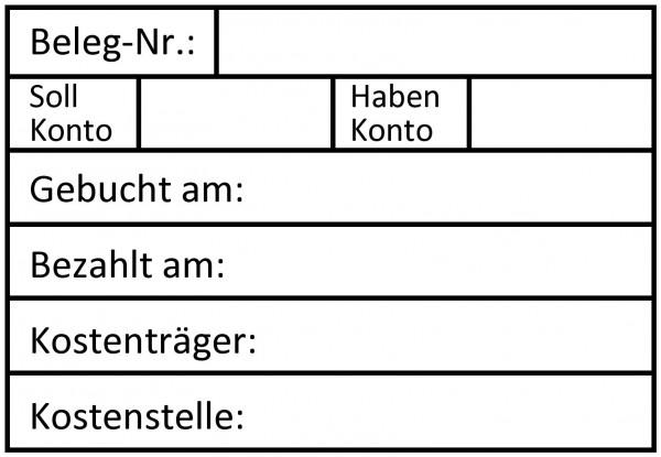 47x68 mm · Buchungsstempel · Tabellenstempel