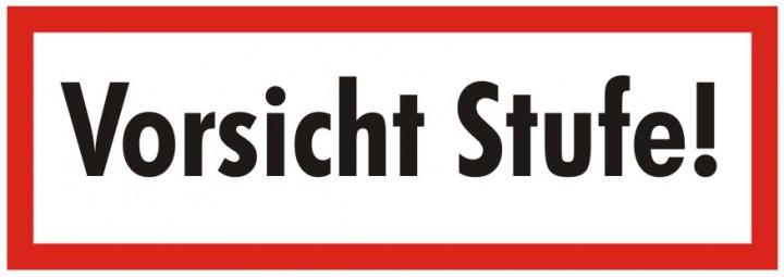 brandschutzzeichen vorsicht stufe textschild din 4066 brandschutzschild josef k hl gmbh. Black Bedroom Furniture Sets. Home Design Ideas
