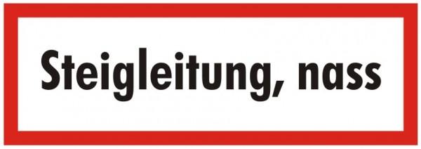 Brandschutzzeichen-9-Steigleitung nass-Textschild DIN 4066 Brandschutzschild