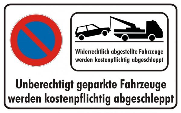 Parkverbot Eingeschränkt mit Abschleppsymbol