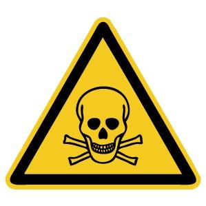 Warnzeichen-4-W016-Warnung vor giftigen Stoffen-DIN EN ISO 7010
