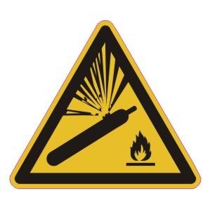 Warnzeichen-4-W029-Warnung vor Gasflaschen-DIN EN ISO 7010