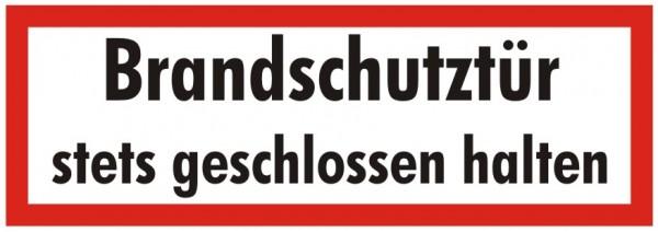 Brandschutzzeichen-9-Brandschutztür stets geschlossen halten-Textschild DIN 4066 Brandschutzschilder