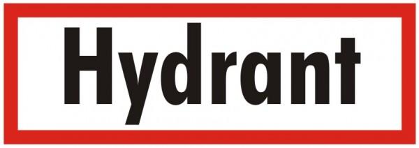 Brandschutzzeichen-9-Hydrant-Textschild DIN 4066 Brandschutzschilder