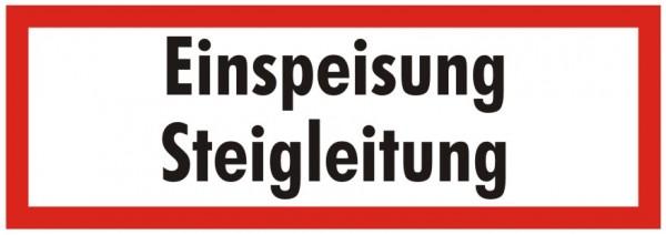 Brandschutzzeichen-9-Einspeisung Steigleitung-Textschild DIN 4066 Brandschutzschild
