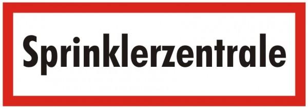 Brandschutzzeichen-9-Sprinklerzentrale -Textschild DIN 4066 Brandschutzzeichen