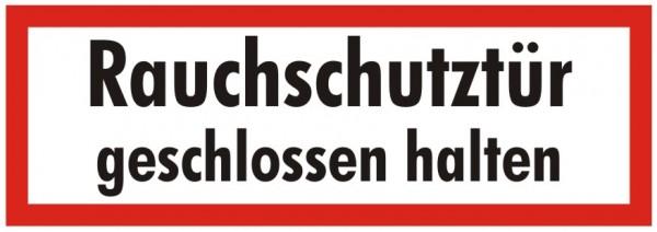 Brandschutzzeichen-9-Rauchschutztür geschlossen halten-Textschild DIN 4066 Brandschutzschilder