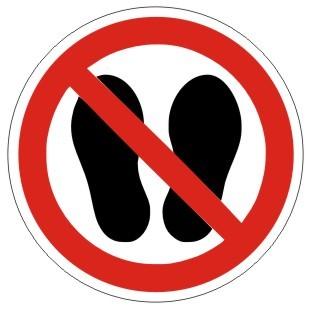 Verbotszeichen-1-P024-Betreten der Fläche verboten-DIN EN ISO 7010