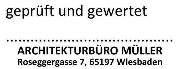 18x47 mm · geprüft Stempel · Firmenstempel · Architektenstempel