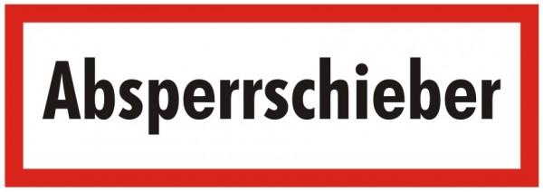 Brandschutzzeichen-9-Absperrschieber-Textschild DIN 4066 Brandschutzschild