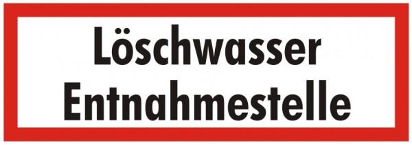 Brandschutzzeichen-9-Löschwasser Entnahmestelle-Textschild DIN 4066 Brandschutzschild