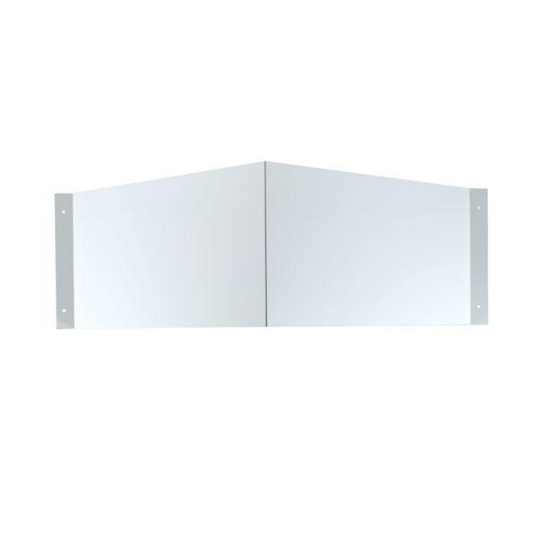 Winkelschild neutral zur Wandmontage Querformat