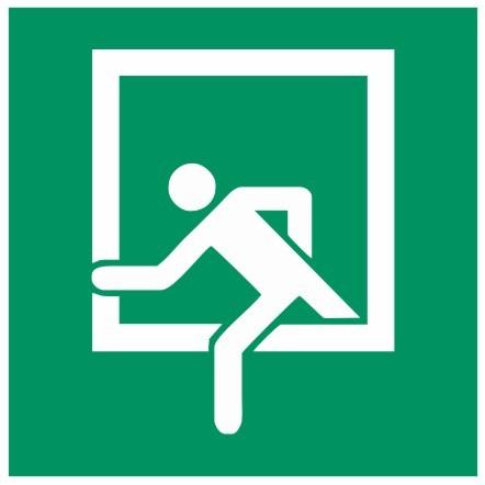 Fluchtwegeschild-6-E019-Notausstieg-DIN 4844 Fluchtwegzeichen