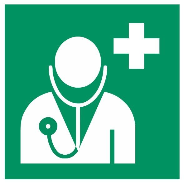 Fluchtwegeschild-6-E009-Arzt-DIN EN ISO 7010 Fluchtwegschild