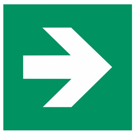 Fluchtwegeschild-6-E001-1-Richtungspfeil gerade-DIN EN ISO 7010 Fluchtwegzeichen