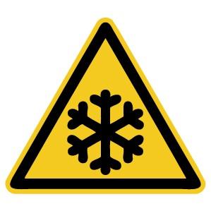 Warnzeichen-4-W010-Warnung vor niedriger Temperatur / Frost-DIN EN ISO 7010