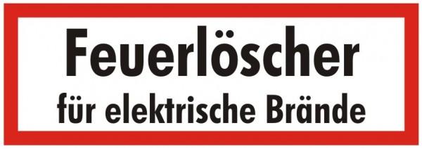 Brandschutzzeichen-9-Feuerlöscher für elektrische Brände-Textschild DIN 4066 Brandschutzschilder