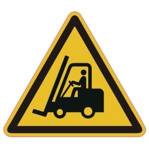 Warnzeichen-4-W014-Warnung vor Flurförderfahrzeugen-DIN EN ISO 7010