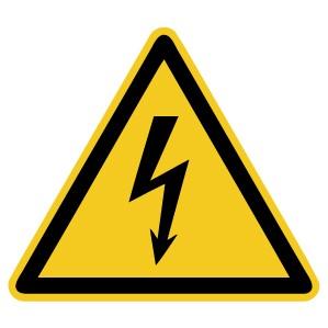 Warnzeichen-4-W012-Warnung vor elektrischer Spannung-DIN EN ISO 7010