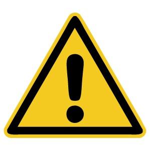 Warnzeichen-4-W001-Allgemeines Warnzeichen-DIN EN ISO 7010