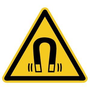 Warnzeichen-4-W006-Warnung vor magnetischem Feld-DIN EN ISO 7010